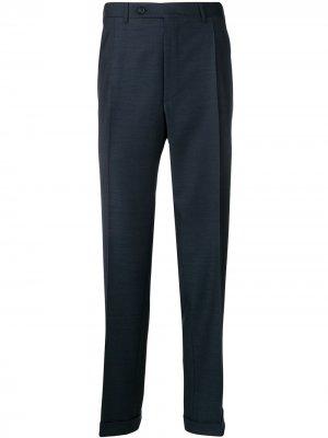 Классические брюки строгого кроя Canali. Цвет: синий