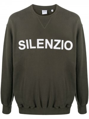 Толстовка Silenzio с круглым вырезом Aspesi. Цвет: зеленый