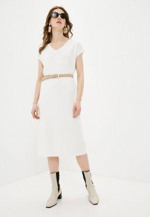 Платье Katya Erokhina Relax White. Цвет: бежевый