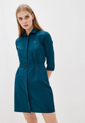 Платье Lacoste. Цвет: зеленый