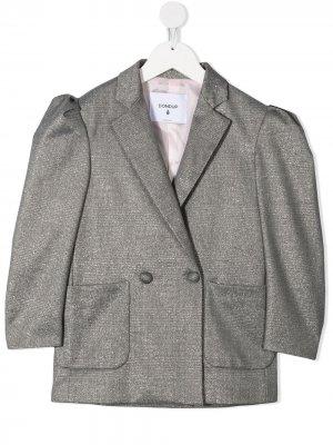 Двубортный пиджак Dondup Kids. Цвет: серый