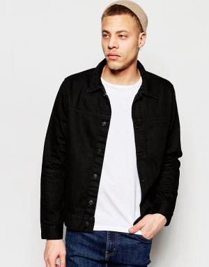 Черная джинсовая куртка с карманом спереди Core Weekday. Цвет: черный