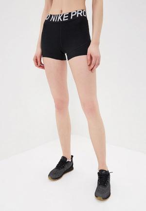 Шорты компрессионные Nike PRO WOMENS 3 TRAINING SHORTS. Цвет: черный