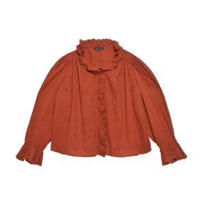 Сорочка La Redoute. Цвет: оранжевый