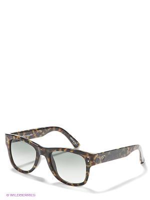 Солнцезащитные очки IUTER. Цвет: коричневый, светло-желтый