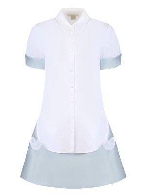 Комплект рубашка и юбка ANTONIO BERARDI. Цвет: белый