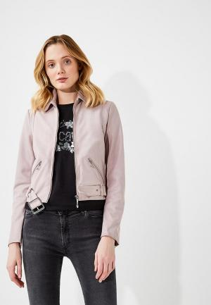 Куртка кожаная Just Cavalli. Цвет: розовый