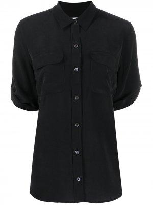 Рубашка с рукавами три четверти Equipment. Цвет: черный