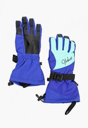 Перчатки горнолыжные High Experience. Цвет: синий