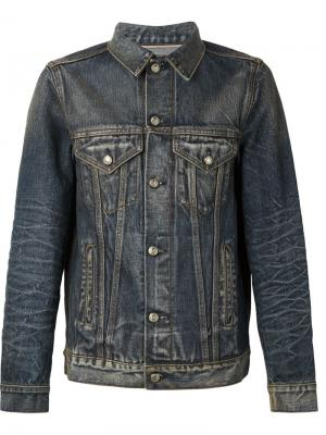 Джинсовый пиджак фермерского стиля R13. Цвет: синий