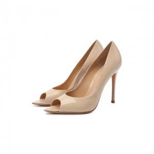 Кожаные туфли Musa Gianvito Rossi. Цвет: бежевый