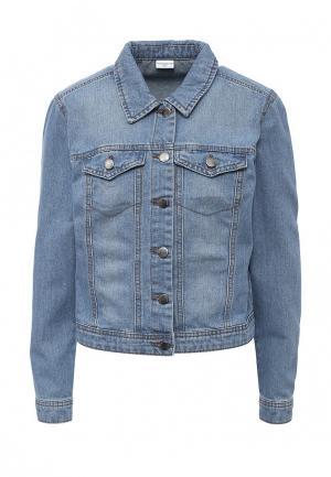 Куртка джинсовая Jacqueline de Yong. Цвет: синий