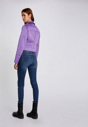 Куртка кожаная Morgan. Цвет: фиолетовый