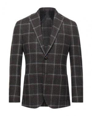 Пиджак BARBA Napoli. Цвет: темно-коричневый