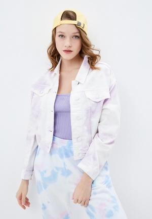 Куртка джинсовая Pimkie. Цвет: фиолетовый