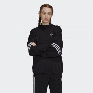 Свитшот Ruffle Crew Originals adidas. Цвет: черный