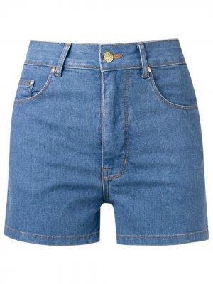 Джинсовые шорты с завышенной талией Amapô. Цвет: синий
