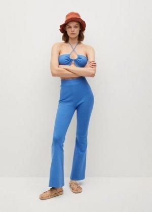 Трикотажные брюки-клеш - Regina Mango. Цвет: синий