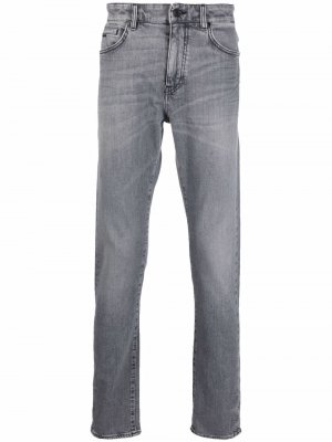 Mid-rise straight jeans Boss Hugo. Цвет: серый