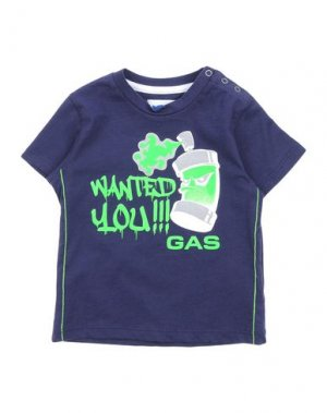 Футболка GAS. Цвет: темно-синий