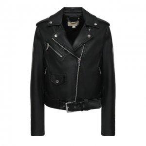 Кожаная куртка MICHAEL Kors. Цвет: чёрный