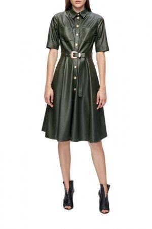 Платье LUSIO. Цвет: темно-зеленый