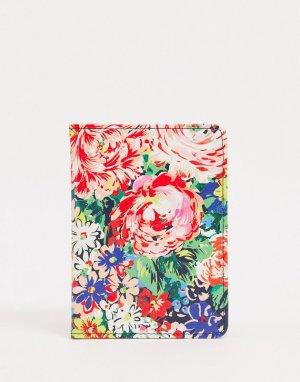 Обложка для паспорта с цветочным принтом Ban Do-Мульти DO