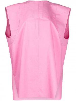 Туника со вставками Rick Owens. Цвет: розовый