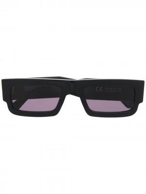 Солнцезащитные очки Wings в квадратной оправе Marcelo Burlon County of Milan. Цвет: черный