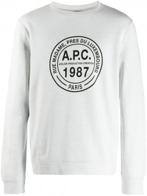 Джемпер с логотипом A.P.C.. Цвет: серый