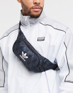 Черная сумка-кошелек на пояс с логотипом-трилистником -Черный adidas Originals