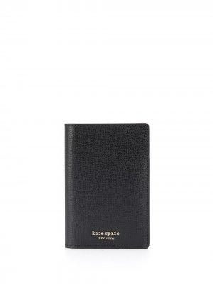 Обложка для паспорта Sylvia Kate Spade. Цвет: черный