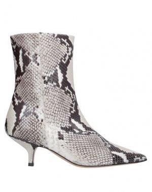 Полусапоги и высокие ботинки BRUNO MAGLI. Цвет: светло-серый