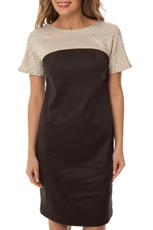 Платье Gloss. Цвет: черно-серый, бежево-голубой