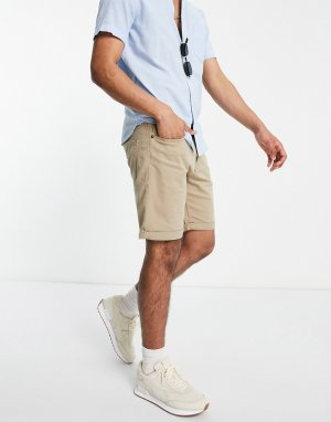 Бежевые шорты с 5 карманами Intelligence-Нейтральный Jack & Jones