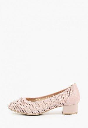 Туфли Caprice Увеличенная полнота, Comfort. Цвет: розовый