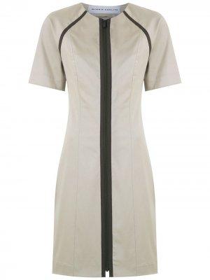Короткое платье с рукавами реглан Gloria Coelho. Цвет: нейтральные цвета
