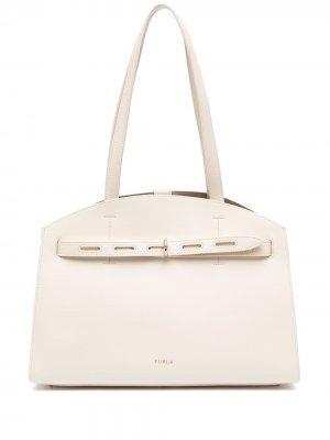 Большая сумка-тоут Margherita Furla. Цвет: нейтральные цвета