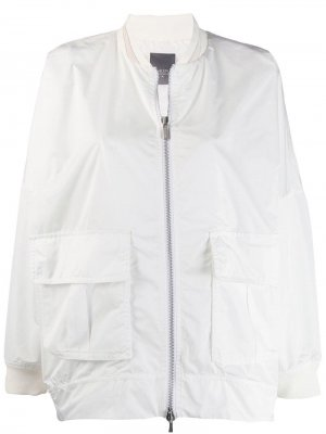 Куртка-бомбер оверсайз Lorena Antoniazzi. Цвет: белый