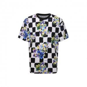 Хлопковая футболка Off-White. Цвет: разноцветный