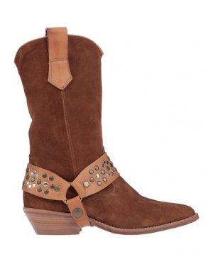 Полусапоги и высокие ботинки J|D JULIE DEE. Цвет: коричневый