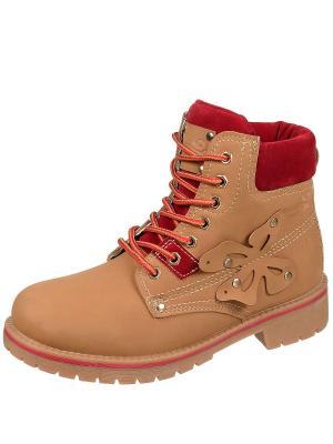Ботинки Тимберленды TopLand. Цвет: рыжий, красный