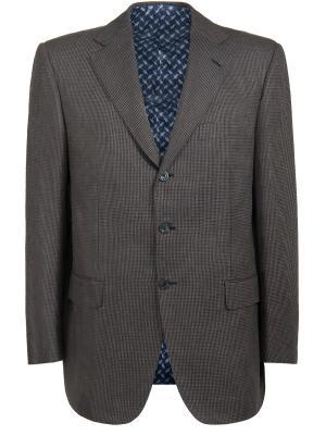 Шелковый пиджак Zilli. Цвет: серый