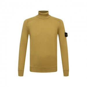 Хлопковый свитер Stone Island. Цвет: жёлтый