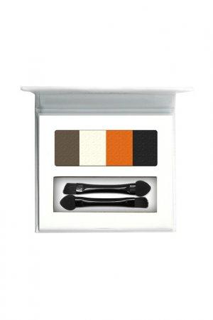 Тени для глаз и бровей Landa Branda. Цвет: брюнет, оранжевый, белый