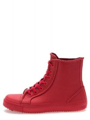 Резиновые ботинки Keddo. Цвет: красный