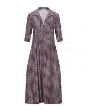 Платье длиной 3/4 LA FABRIQUE. Цвет: баклажанный