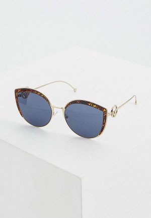 Очки солнцезащитные Fendi FF 0290/S J5G. Цвет: золотой