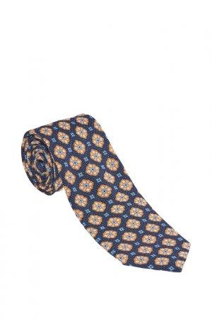 Галстук Altea. Цвет: светло-синий, оранжевый в цвет