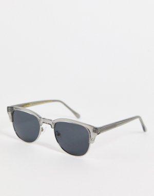 Квадратные солнцезащитные очки с прозрачной оправой в стиле унисекс Bate-Серый A.Kjaerbede